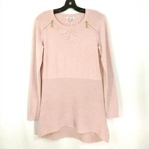 Ava Pullover Sweater in Blush Pink Small